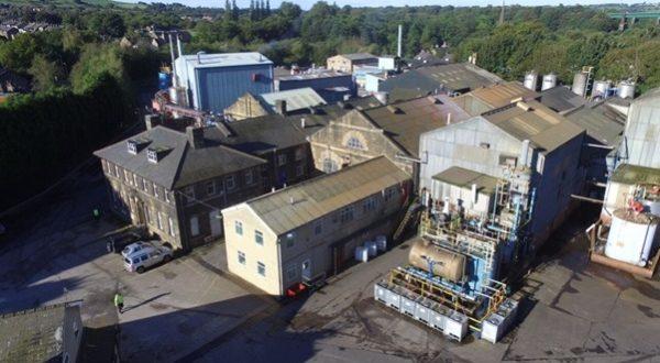 glossop lancashire chemicals drone picture