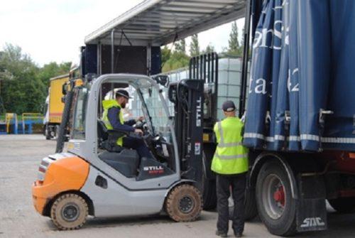 lancashire chemicals still forklift truck