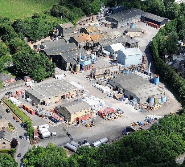 Aerial photo of Plater Group 8 acre site in Glossop