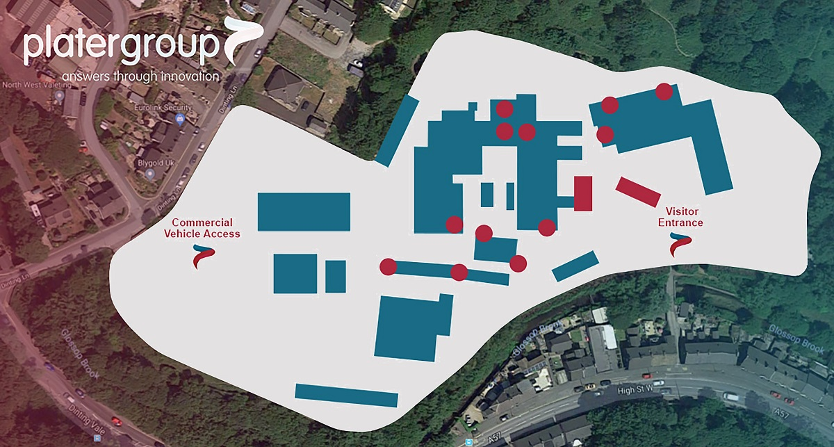 Plater Group Glossop site map