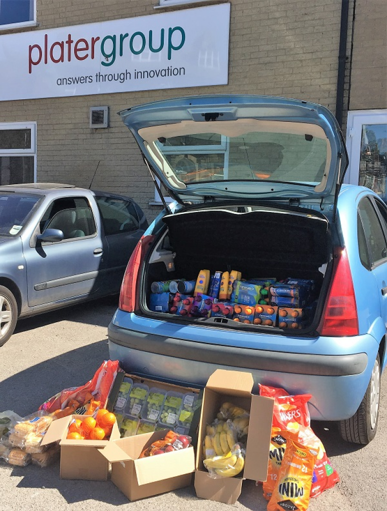 Plater Group Donate Essentials to Moors Firefighters